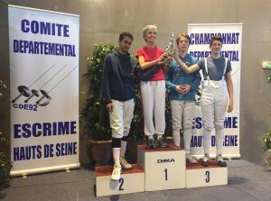 Trophée des Féminines Epée Levallois