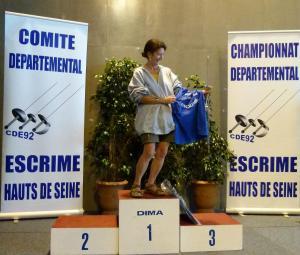 Podium Epée D Vétérante