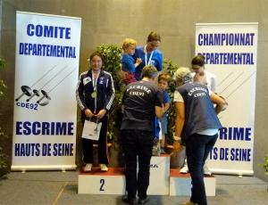 Podium Fleuret D senior